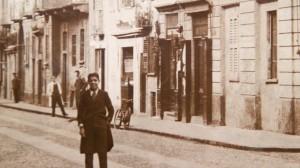 La Cartoleria Ruboni in una foto d'epoca.